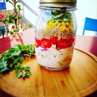 Mexican Quinoa Jar Salad