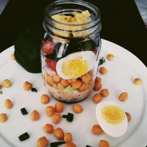 Supercharging chickpea salad