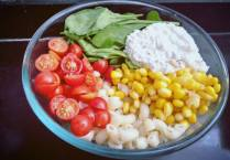 Ingredients for Roasted Garlic Pasta Salad