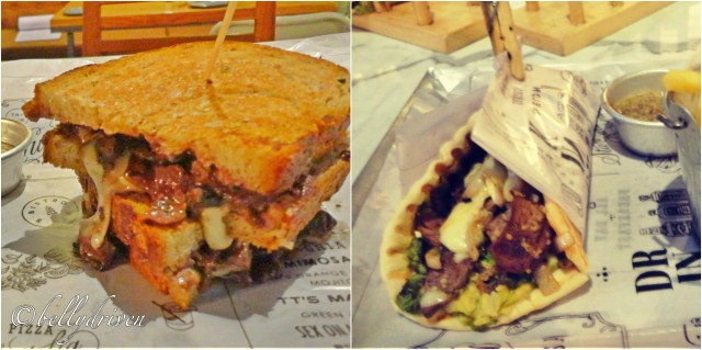 3 mUshroom & Mozarella Sandwich - Minute Steak with quinoa, onions and gyros
