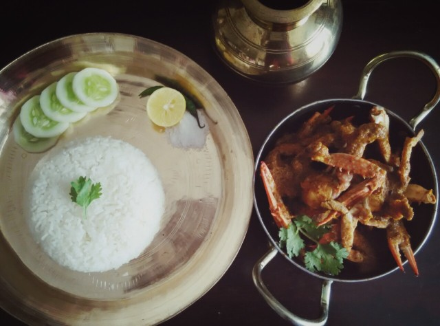 Crab Curry and Rice