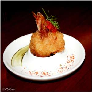 Panko fried prawns Baan Tao
