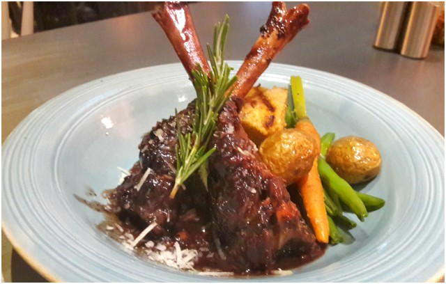Lamb Shanks with Parmesan Polenta in Red Wine Sauce