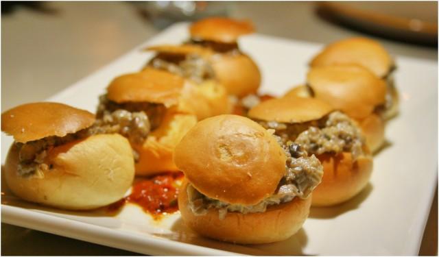 Mushroom Fricassee Stuffed Brioche buns