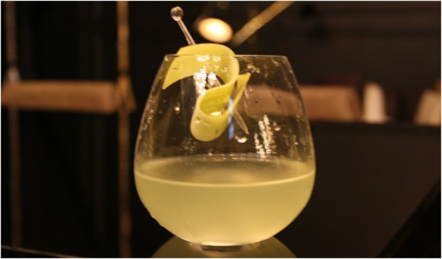 Strozzi - A thoroughly refreshing cocktail made of vodka, cucumber, mint and sour mix. The looks are unassuming but this one sure is potent
