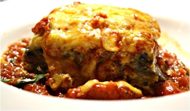 The baked lasagna