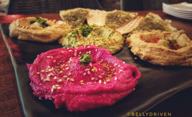 The Hummus Platter at Souk by Cafe Arabia